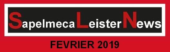 Newsletter Sapelmeca Leister fevrier 2019